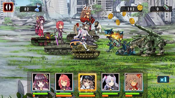 ゲーム画面 機動戦車チハたんX